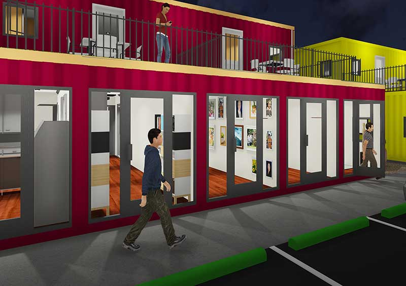 shipping container homes and commercial property in 76262 area